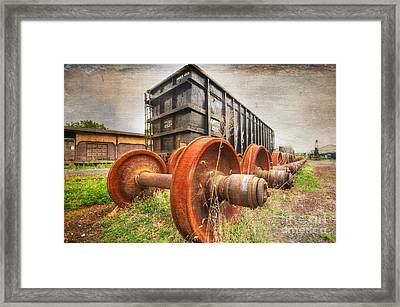 Freight Car And Axels Framed Print