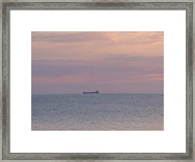 Framed Print featuring the photograph Freighter by Bonfire Photography
