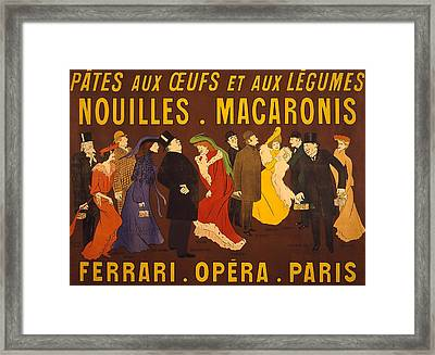 French Advertisement For Noodles Framed Print by Everett