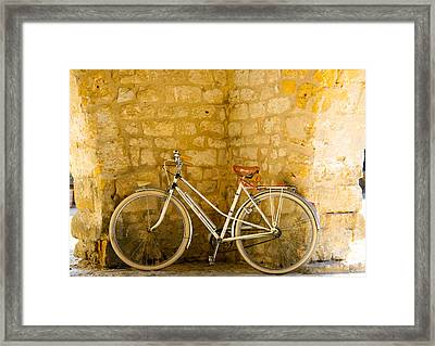 French Bicycle Framed Print by Georgia Fowler