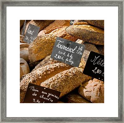 French Bread Of Provence Framed Print by Kent Sorensen