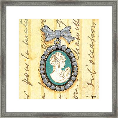French Cameo 1 Framed Print by Debbie DeWitt