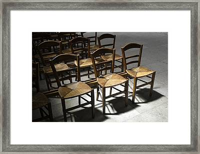 French Chairs Framed Print by Dickon Thompson