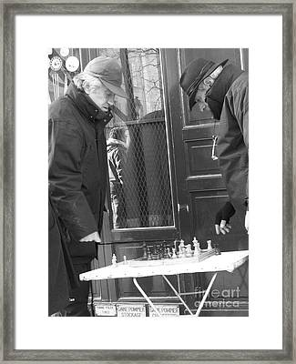 French Checkmate Framed Print by Jennifer Sabir