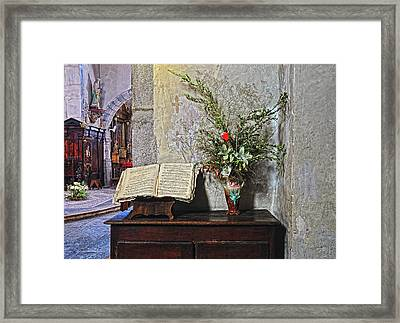 Framed Print featuring the photograph French Church Decorations by Dave Mills
