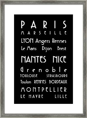 French Cities - Bus Roll Style Framed Print by Georgia Fowler
