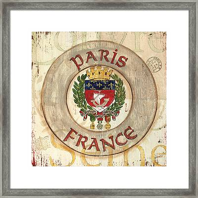 French Coat Of Arms Framed Print by Debbie DeWitt
