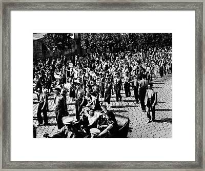 French Communists And Socialists Framed Print