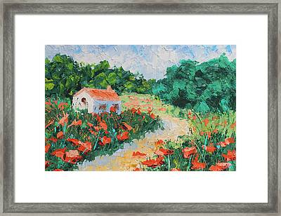 French Cottage Framed Print by Courtney Hancock