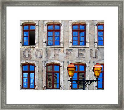 Framed Print featuring the photograph French Facade by David Harding