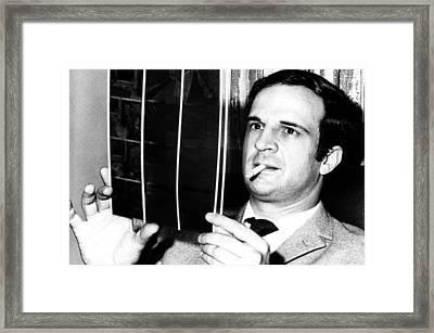 French Filmmaker Francois Truffaut Framed Print by Everett