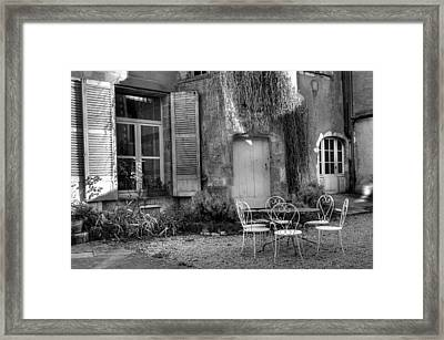 French Garden Framed Print by Jan Carr