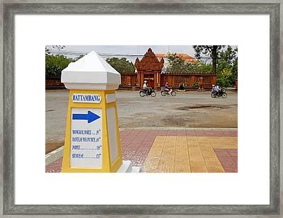 French-khmer City Of Battambang Framed Print