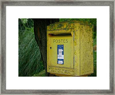 French Mailbox Framed Print