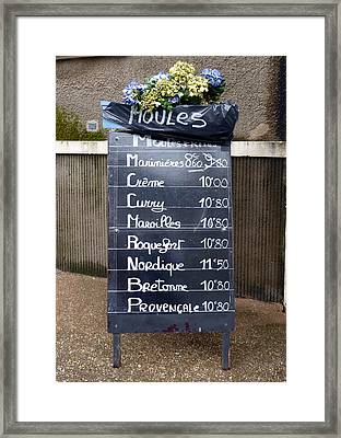 French Mussels Framed Print