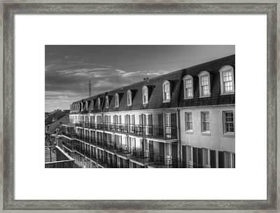 French Quarter Balconies Framed Print