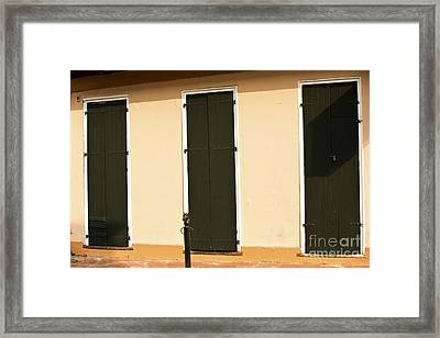 French Quarter Doors  Framed Print by Leslie Leda