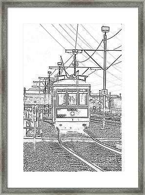 French Quarter French Market Cable Car New Orleans With Photocopy Framed Print by Shawn O'Brien