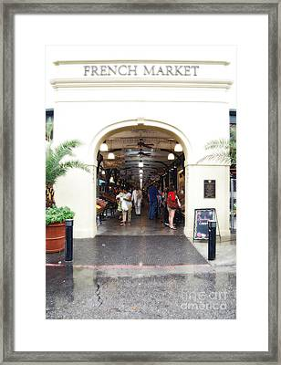 French Quarter French Market Entrance New Orleans Diffuse Glow Digital Art Framed Print