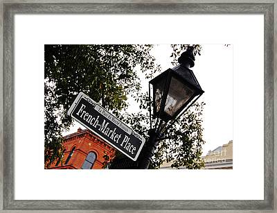 French Quarter French Market Street Sign New Orleans  Framed Print by Shawn O'Brien
