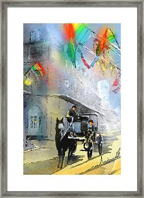 French Quarter In New Orleans Bis Framed Print by Miki De Goodaboom