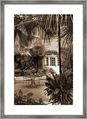 French Quarter Quite Place Framed Print