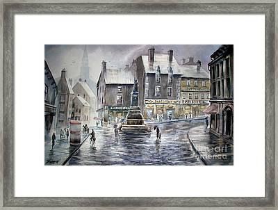 French Rain Framed Print