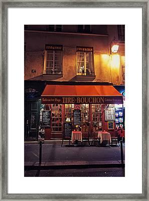 French Restaurant Framed Print