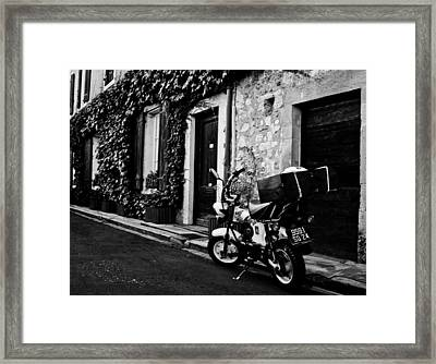 French Street Framed Print