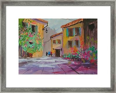 French Village Framed Print by Heidi Patricio-Nadon