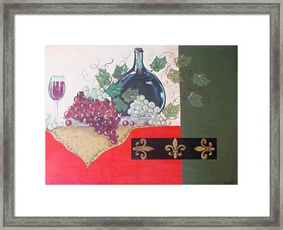 French Wine Framed Print by Cindy Micklos