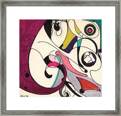 Framed Print featuring the drawing Frenchcurve by Christine Perry