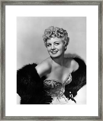 Frenchie, Shelley Winters, 1950 Framed Print