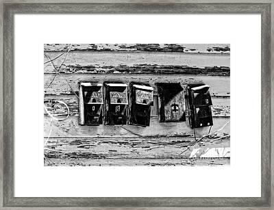 Freret Street Mailboxes - Black And White -nola Framed Print by Kathleen K Parker