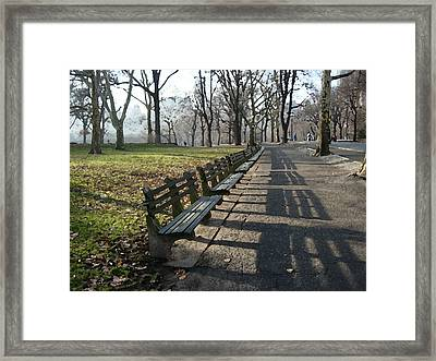 Fresco Park Benches Framed Print