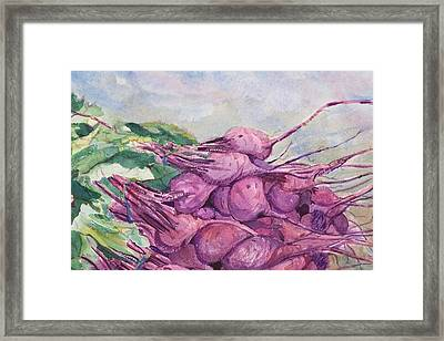Fresh Beets Framed Print
