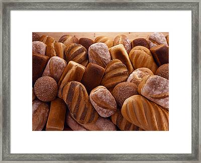 Fresh Bread Loaves Framed Print by Terry Mccormick