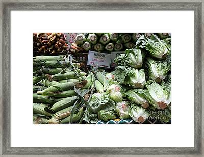 Fresh Corn Lettuce And Carrots - 5d17819 Framed Print by Wingsdomain Art and Photography