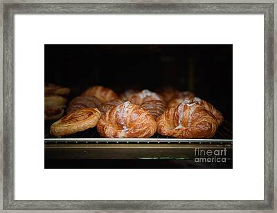 Fresh Croissants Paris Framed Print by Ei Katsumata