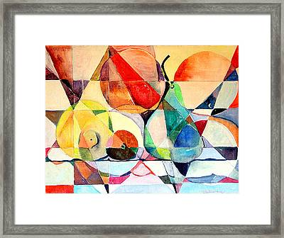 Fresh Fruit Framed Print by Mindy Newman