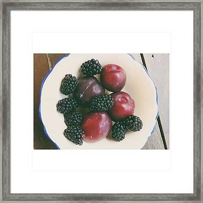 Fresh Fruits Framed Print