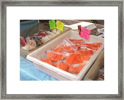 Fresh King Salmon Framed Print by Hiroko Sakai