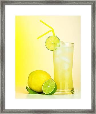 Fresh Lemon Juice Framed Print by Anna Om