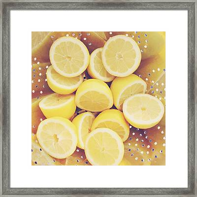 Fresh Lemons Framed Print by Amy Tyler