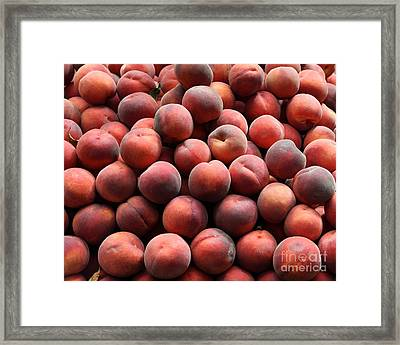 Fresh Peaches - 5d17816 Framed Print by Wingsdomain Art and Photography
