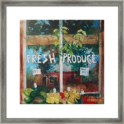 Fresh Produce Framed Print by Micheal Jones