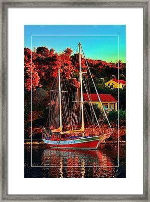 Fresh Sail  Framed Print by Gennadiy Golovskoy