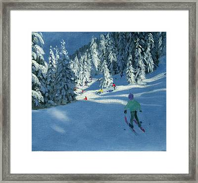 Fresh Snow Framed Print by Andrew Macara
