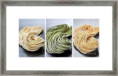 Fresh Tagliolini Pasta Framed Print by Elena Elisseeva
