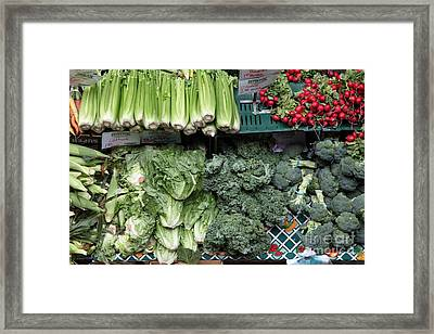 Fresh Vegetables - 5d17911 Framed Print by Wingsdomain Art and Photography